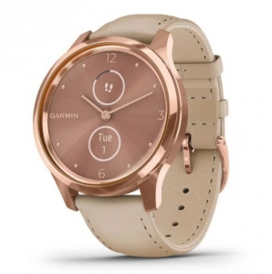 Умные часы Garmin Vivomove Luxe Rose Gold/Light Sand (010-02241-21)