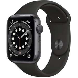 Умные часы Apple Watch Series 6 GPS 44mm Space Gray Aluminium Case with Black Sport Band M00H3RU/A