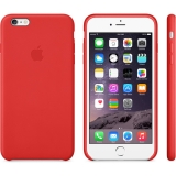 Кожаный чехол-крышка для Apple iPhone 6 plus и 6s plus Apple Leather Case Bright Red MGQY2