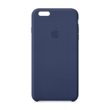 Кожаный чехол-крышка для Apple iPhone 6 plus и 6s plus Apple Leather Case Midnight Blue MGQV2