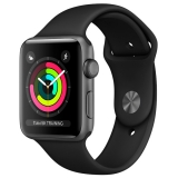 Apple Watch Series 3 38mm Space Grey Aluminium Case with Grey Sport Band (MR352)