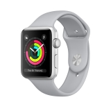 Apple Watch Series 3 38mm Silver Aluminium Case with Fog Sport Band (MQKU2)