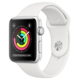 Apple Watch Series 3 38mm Silver Aluminum Case with White Sport Band (Серебристый/Белый) (MTEY2)