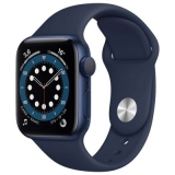 Часы Apple Watch Series 6 40mm Blue Aluminum Case with Deep Navy Sport Band (MG143RU/A)