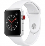 Apple Watch Series 3 42mm (GPS + Cellular) - Silver Aluminum Case with White Sport Band