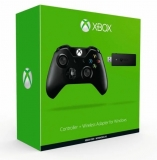 Microsoft Controller Xbox One + Wireless Adapter for Win10, Black геймпад